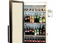 Control register for beverage refrigerator
